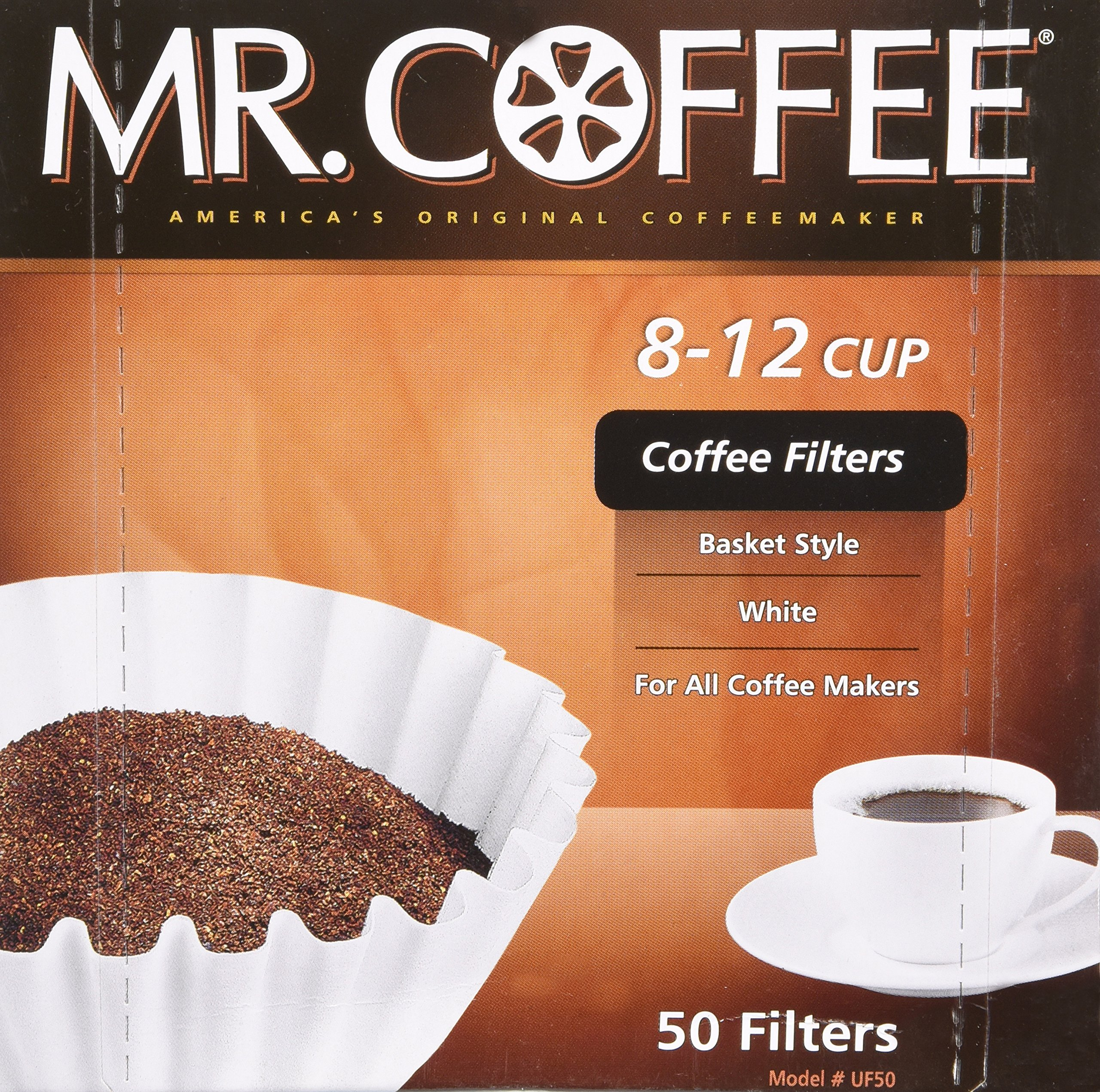 Mr. Coffee Coffee Basket Filters 8 12 Cup 50 Filters (1, 8-12 Cup)