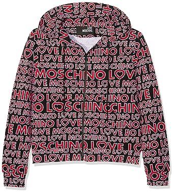 9e9bbcfec7e Love Moschino Women's Marsup Hooded Jacket, Schwarz (Marcologo Black 0002),  UK 12: Amazon.co.uk: Clothing