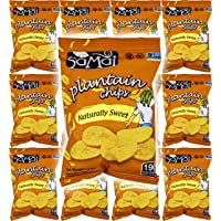 Samai Naturally Sweet, Plantain Chips, Gluten-Free, 1.2oz Bag (Pack of 12, Total of 14.4 Oz)