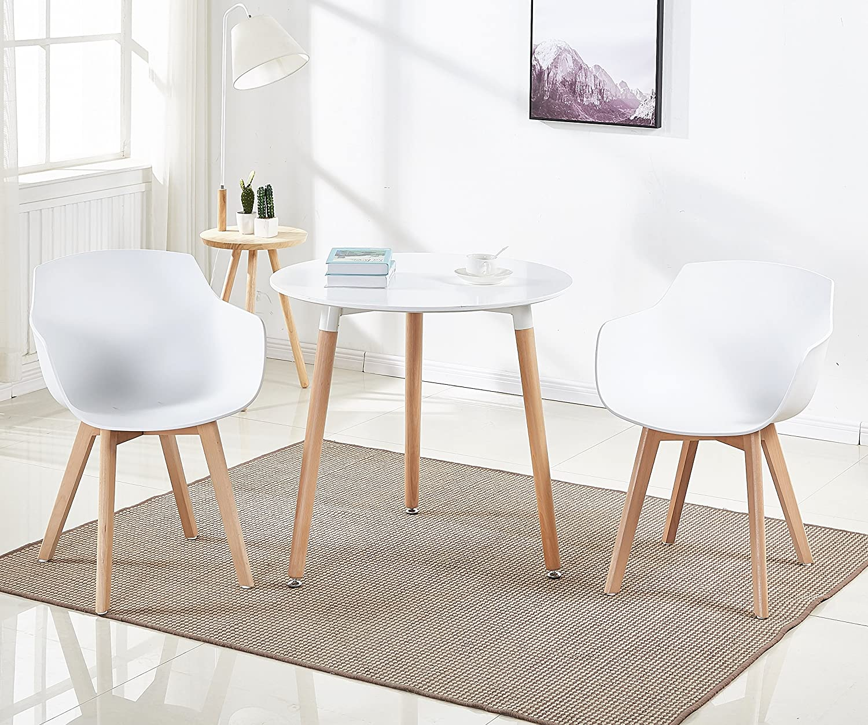 120 x 80 x 75 cm DORAFAIR Tavolino da Cucina Rettangolo Tavolino da Salotto Moderno per conferenze da Ufficio,Tavolo da Pranzo con Gambe a forcina Bianco