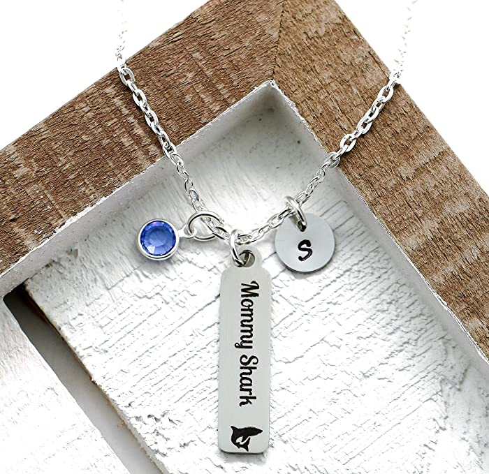 The Best Mommy Shark Doo Doo Silver Necklace