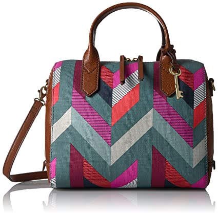 bd7f7bc8d7 Buy Fossil Fiona Satchel (Multicolour) Online at Low Prices in India -  Amazon.in