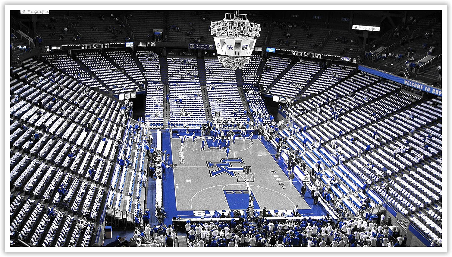 Kentucky - College Basketball Touch of Color - 20x11 Matte Poster Print Wall Art TOC