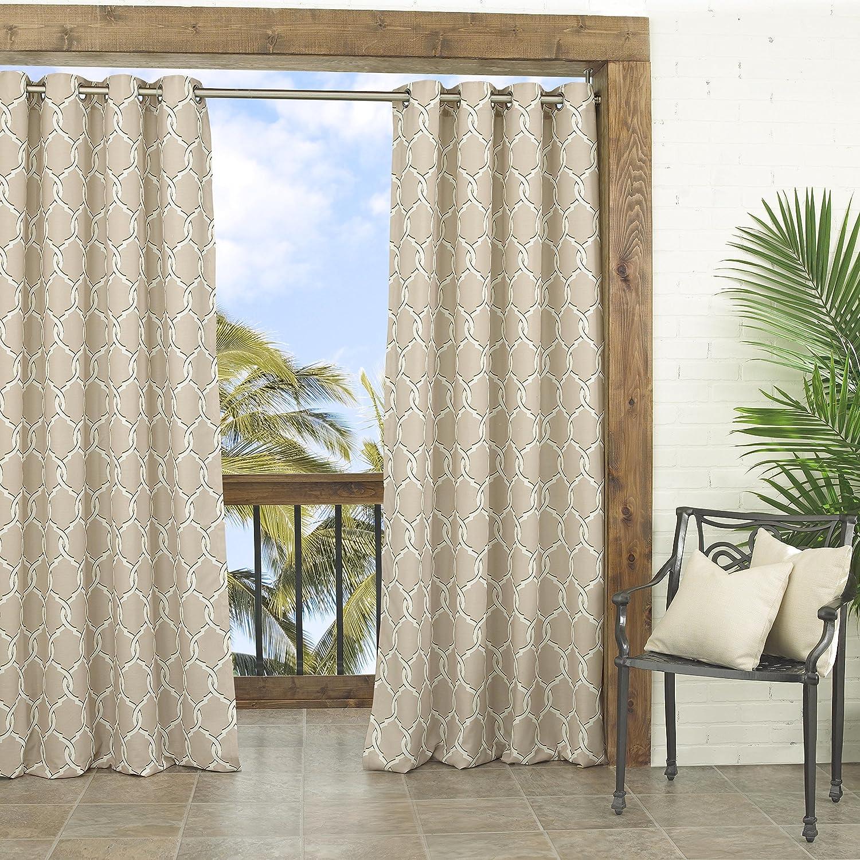 Trellis Drapes Part - 37: Amazon.com: Parasol 14028052095IND Totten Key 52-Inch By 95-Inch Trellis  Indoor / Outdoor Single Curtain Panel, Indigo: Home U0026 Kitchen