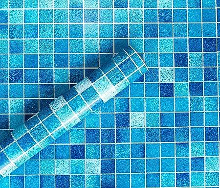 Silver Blue STICKY DOS PLASTIQUE Checkered Vinyl Pvc Cuisine Fablon Carrelage Mosaïque