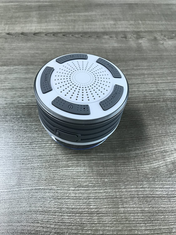 yesker IP67 impermeable Bluetooth 4.0 ducha speaker-portable con fuerte ventosa, superior calidad de sonido, altavoz manos libres, compatible con todos los ...