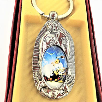 12pcs BOYS/GIRLS Baptism Favors First Communion Favors Virgen De Guadalupe key chain ring