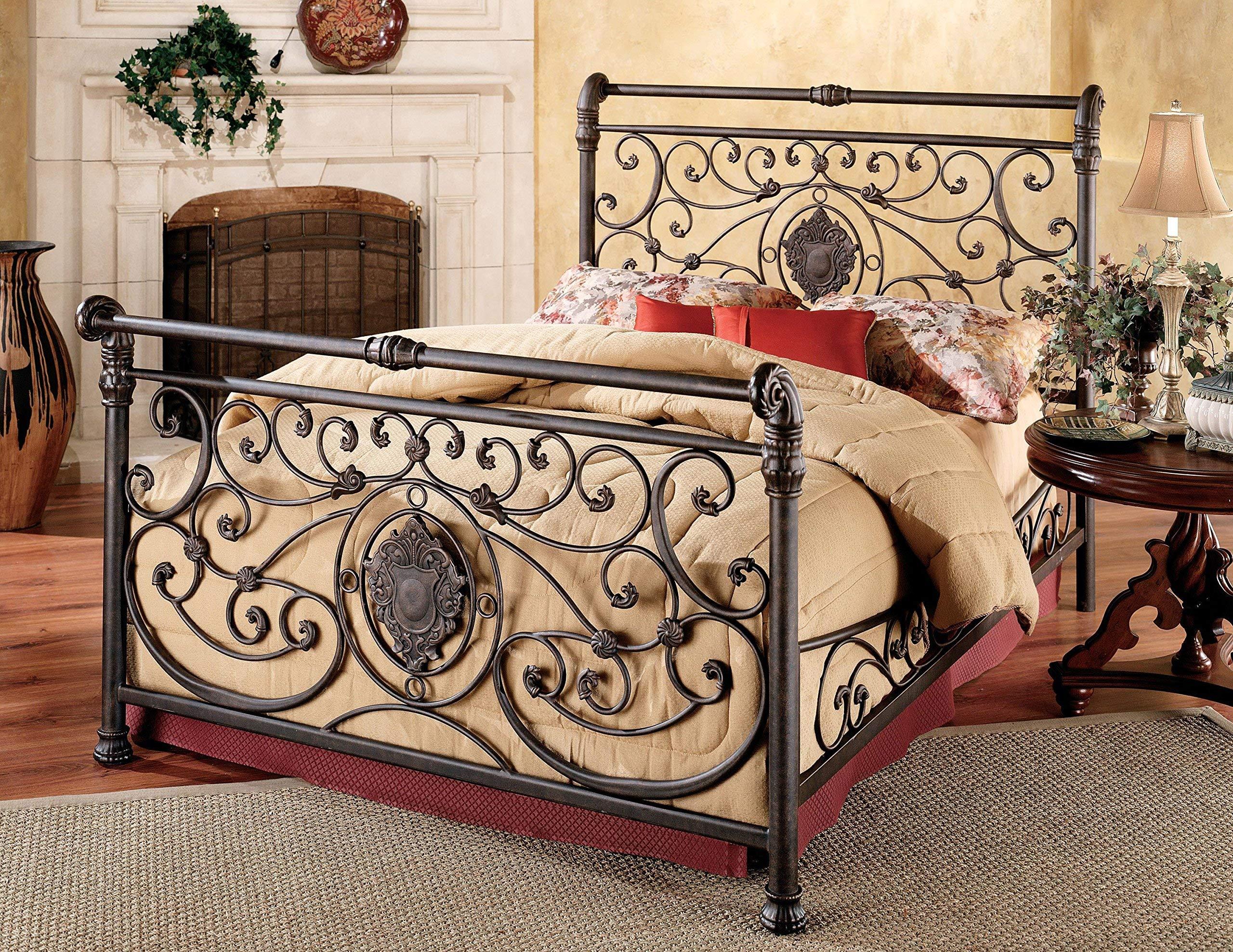 Hillsdale Furniture 1039BKR Mercer Bed Set with with Rails, King, Antique Brown