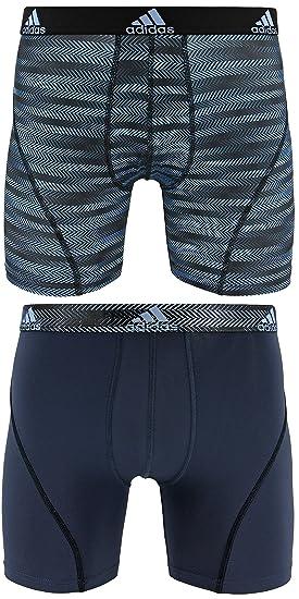 Adidas – Camiseta de Deporte Performance Climalite Boxer Breve Ropa Interior (2 Unidades),