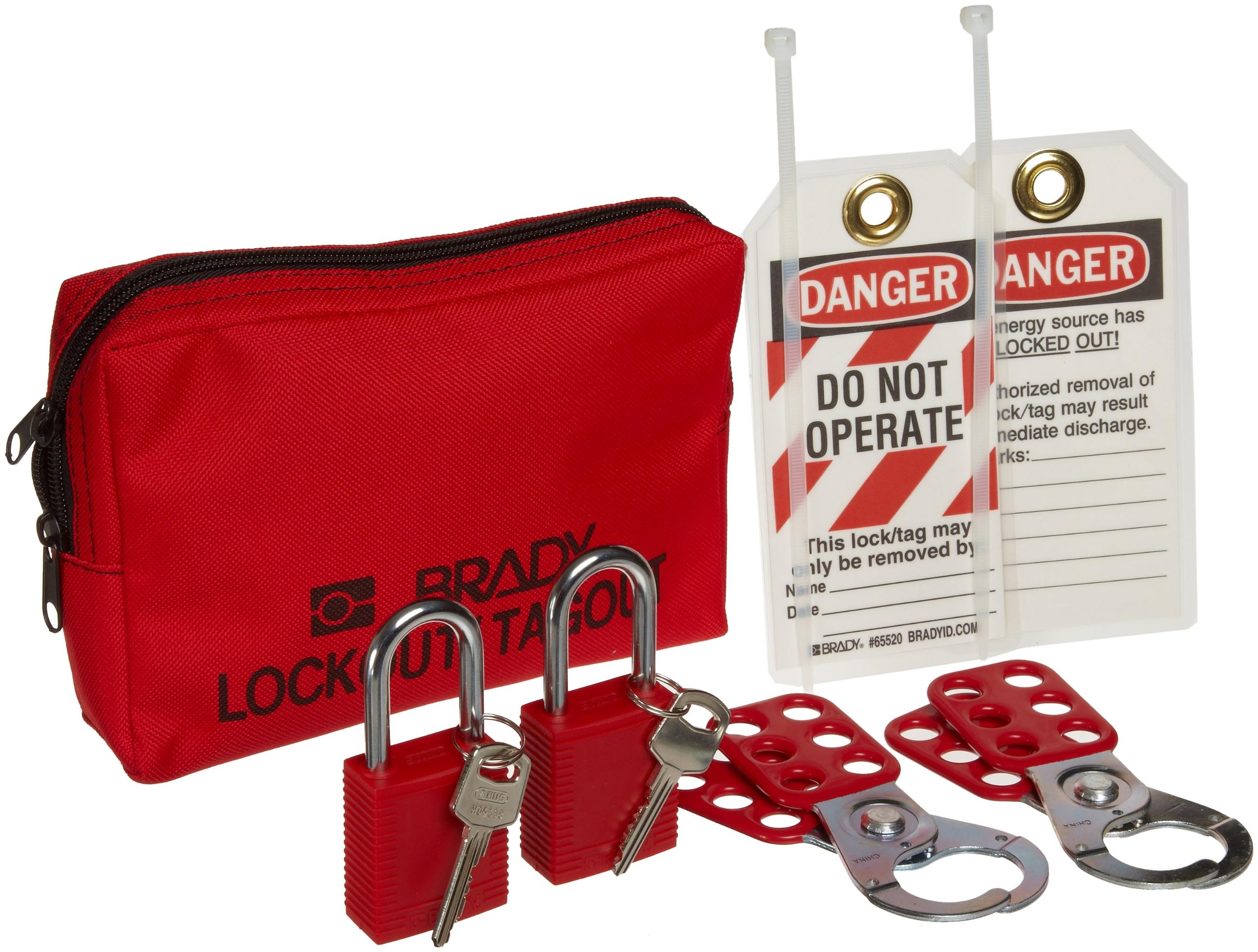 Brady Personal Lockout Tagout Pouch Kit - 105969 by Brady