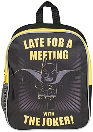 534d9e150f OFFICIAL BATMAN LEGO MOVIE JUNIOR BOYS KIDS BACKPACK RUCKSACK SCHOOL BAG NEW   Amazon.co.uk  Clothing