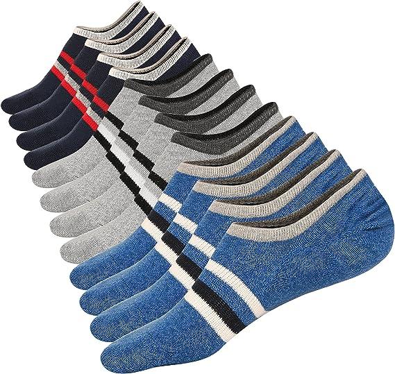 M/&Z Low Cut No Show Socks Mens Casual Invisible Cotton Non-Slip Durable Socks S//M//L