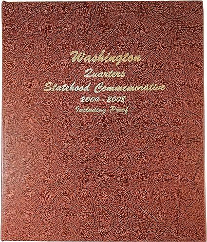 WASHINGTON STATEHOOD QUARTERS 2004-2008 w//Proof! DANSCO Coin Album #8144