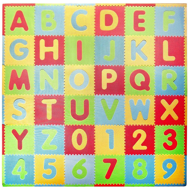 Tadpoles Playmat Set 36-Piece ABC, Multi/Modern Sleeping Partners Int' l cpmsev523