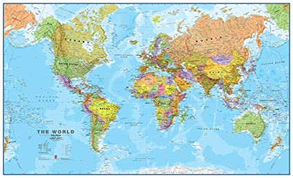 Amazon maps international giant world map mega map of the maps international giant world map mega map of the world front lamination gumiabroncs Gallery