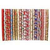 4 x 10m Christmas Wrapping Paper Rolls - Kids Snowman / Santa / Penguin / Reindeer
