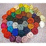 Filzwolle - 45 Knäule - 45 Farben zum Trockenfilzen und Nassfilzen, ca. 500gr. bunte Farben zum filzen