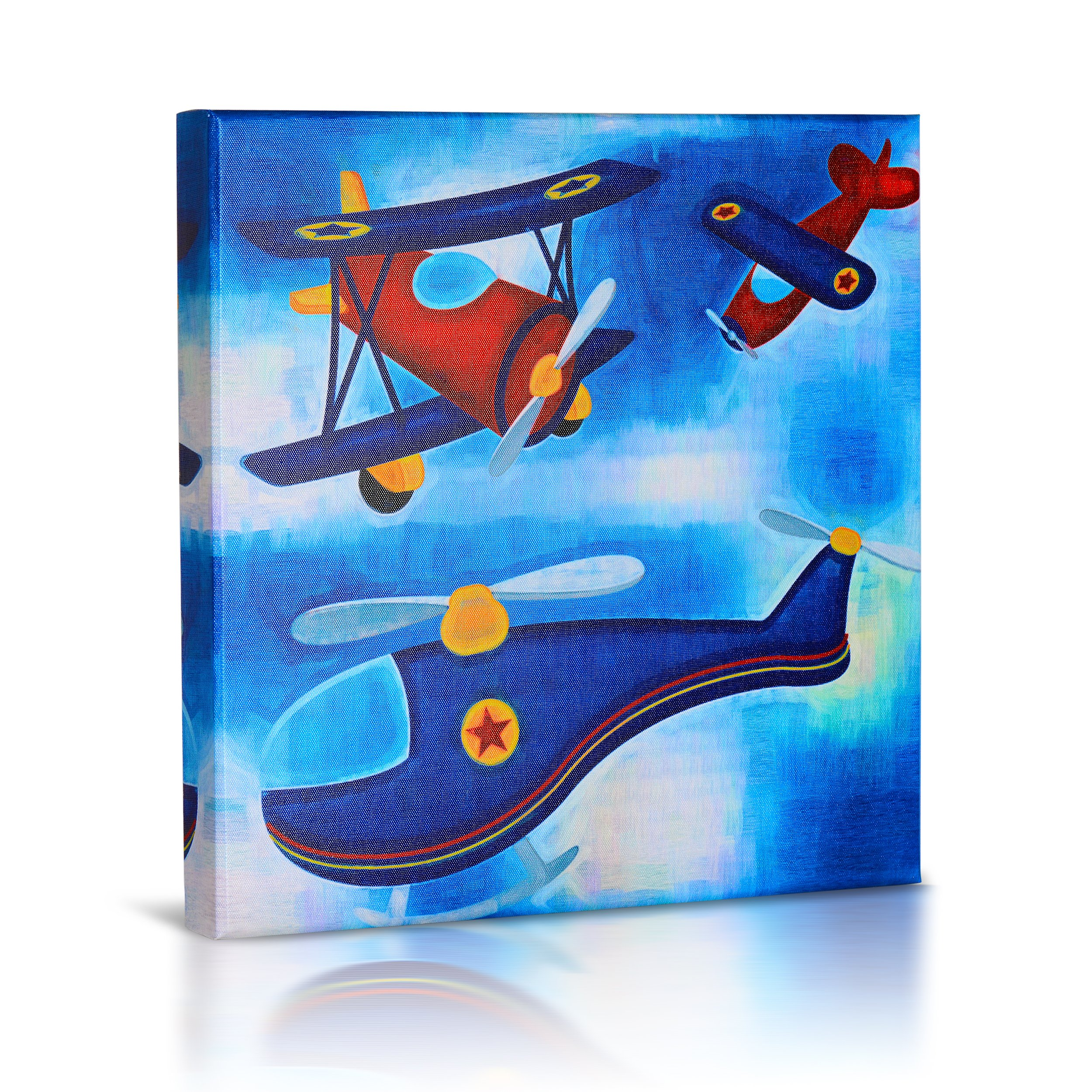 Green Frog Elegant Stretched and Framed Hand-Painted Modern Canvas Wall Art For Boys Room Indoor Wall Decorations (14 X 14, 015)