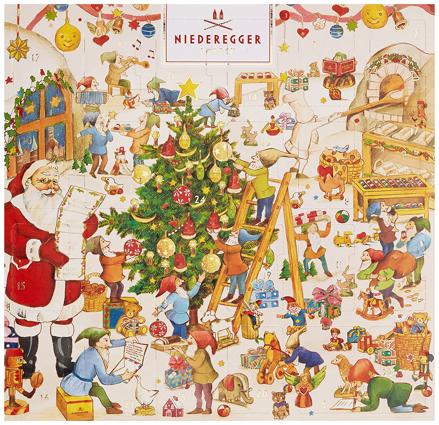 Niederegger Adventskalender Mini Klassiker 168 g Amazon