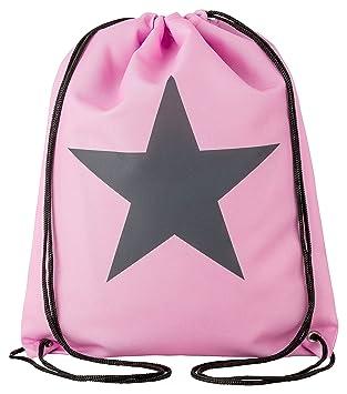 83c89f8f42879 Aminata Kids - Kinder-Turnbeutel für Mädchen und Damen mit Star Sternchen  Stern-e