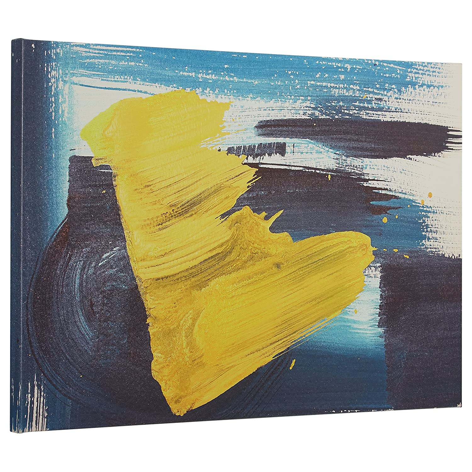 Amazon.com: Rivet Abstract Brushed Blue and Yellow Canvas Print, 24 ...