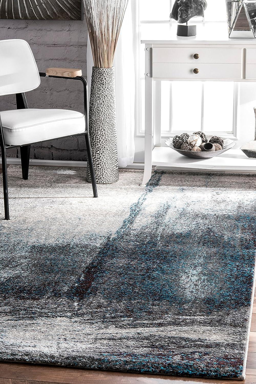 Nuloom Noreen Abstract Area Rug 6 7 X 9 Grey Furniture Decor Amazon Com