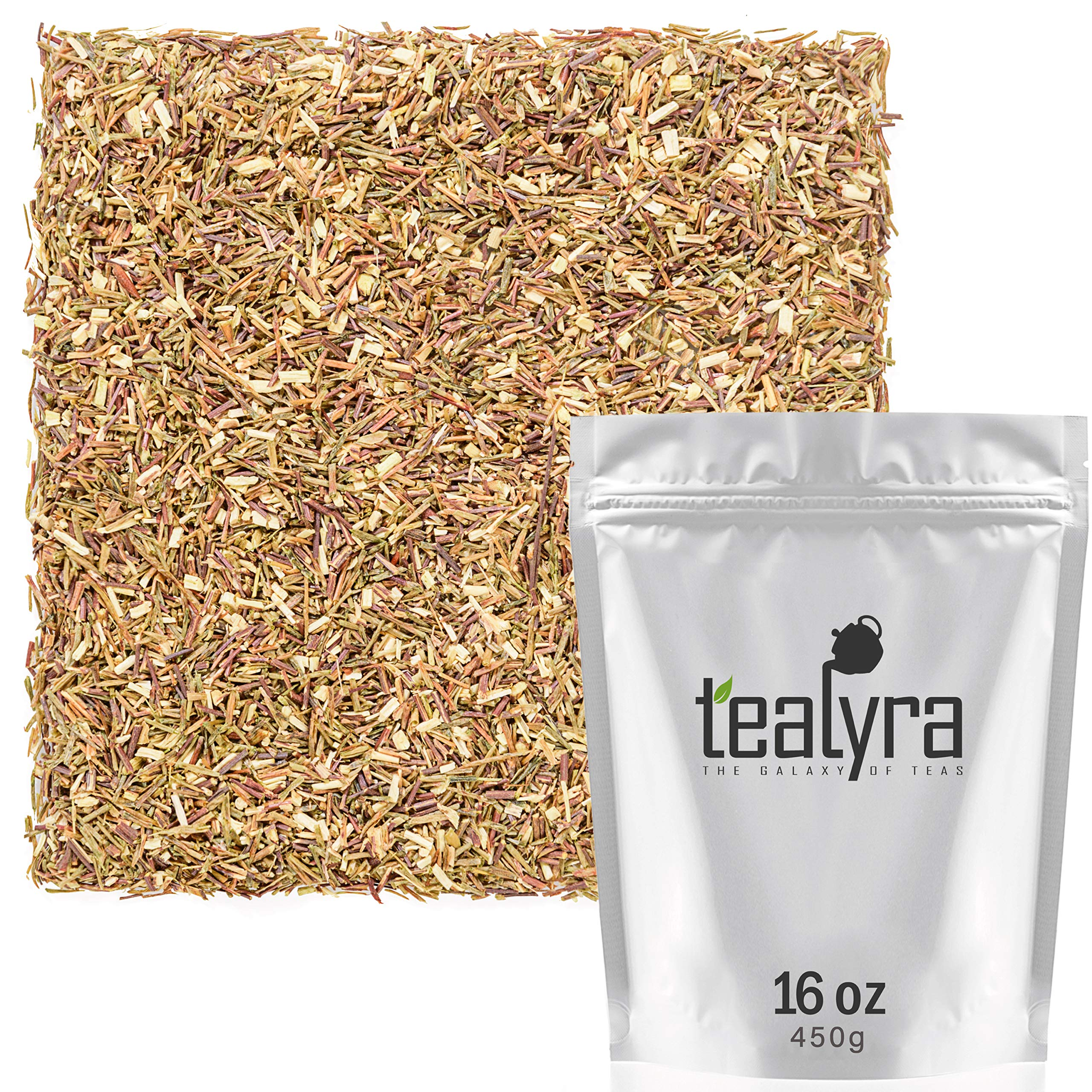 Tealyra - Green Rooibos - Pure Herbal Loose Leaf Tea - Antioxidants Rich - Relaxing Tea - Caffeine-Free - Organically Grown - 450g (16-ounce) by Tealyra
