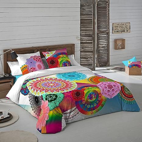 moda atractiva calidad primero estilo novedoso NATURALS Juego De Funda Nórdica Indhira Cama 150 (240 x 220 cm + 2/45 x 90  cm)