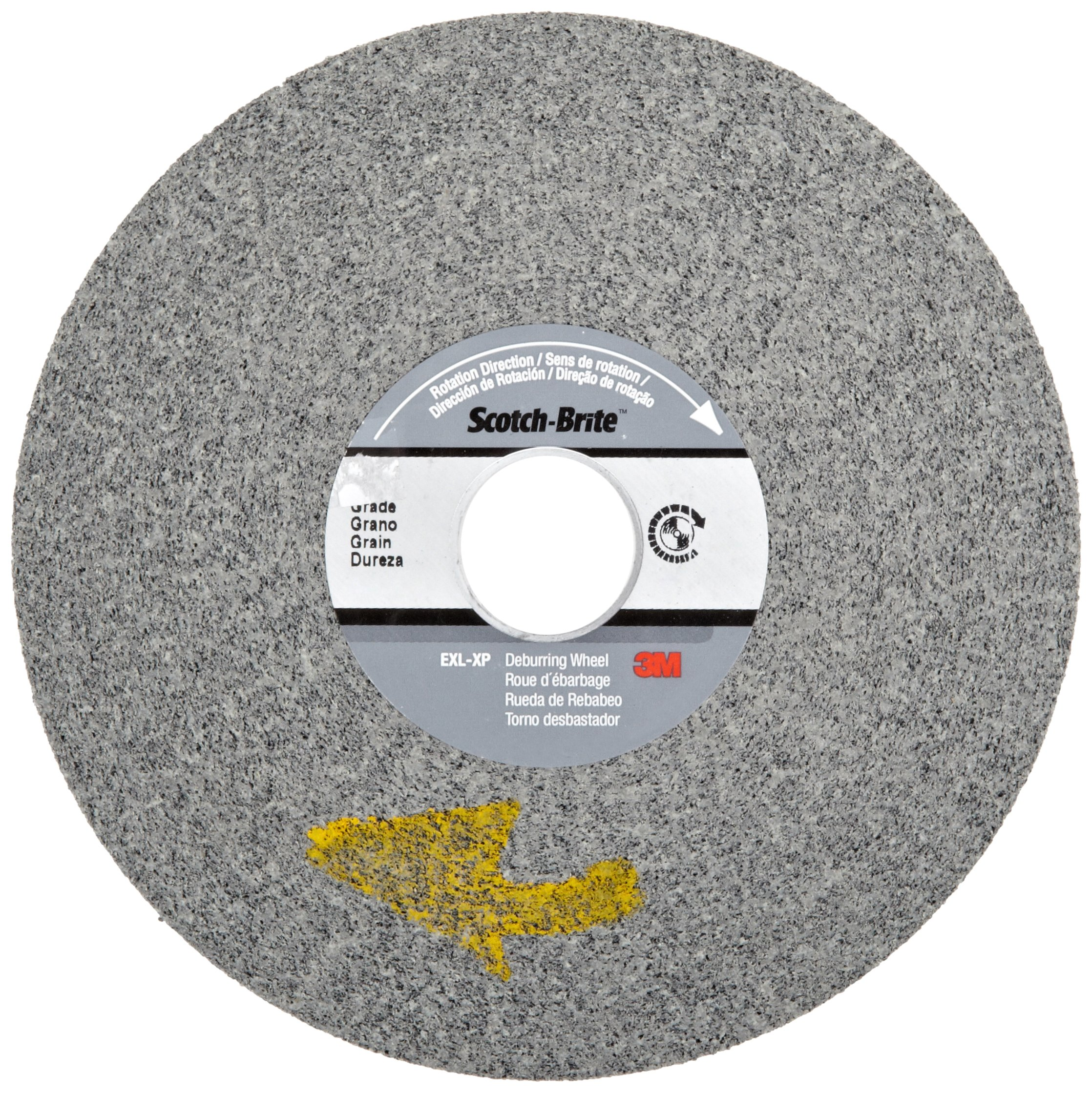 3M Scotch-Brite XP-WL Convolute Silicon Carbide Hard Deburring Wheel - Fine Grade - Arbor Attachment - 6 in Dia 1 in Center Hole - Thickness 1/2 in - 6000 Max RPM - 60452 [PRICE is per WHEEL]
