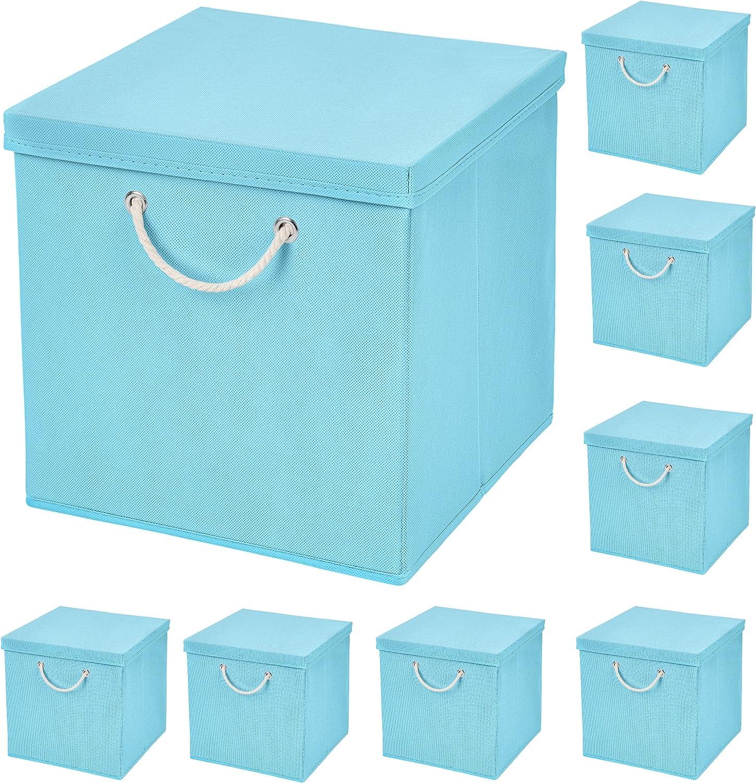 8 pieza azul claro – Caja plegable (30 x 30 x 30 cm Caja Plegable ...