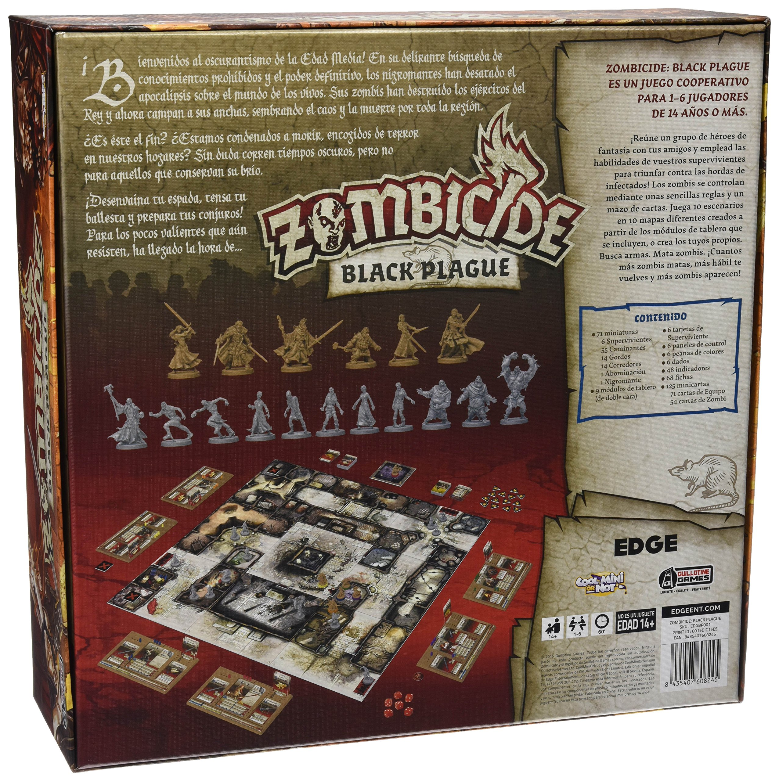 Comprar Edge Entertainment- Zombicide: Black Plague, Color (EDGBP001)