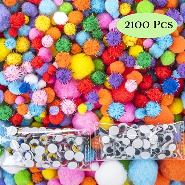 6 mm x 12 inch Art Creative Crafts Decorations YUEAON 1020 Pieces in 34 Colors Pipe Cleaners Value Pack of Multicolor Chenille Stems for DIY