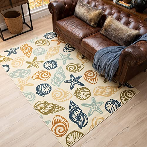 Mohawk Home Scattered Seashells Area Rug