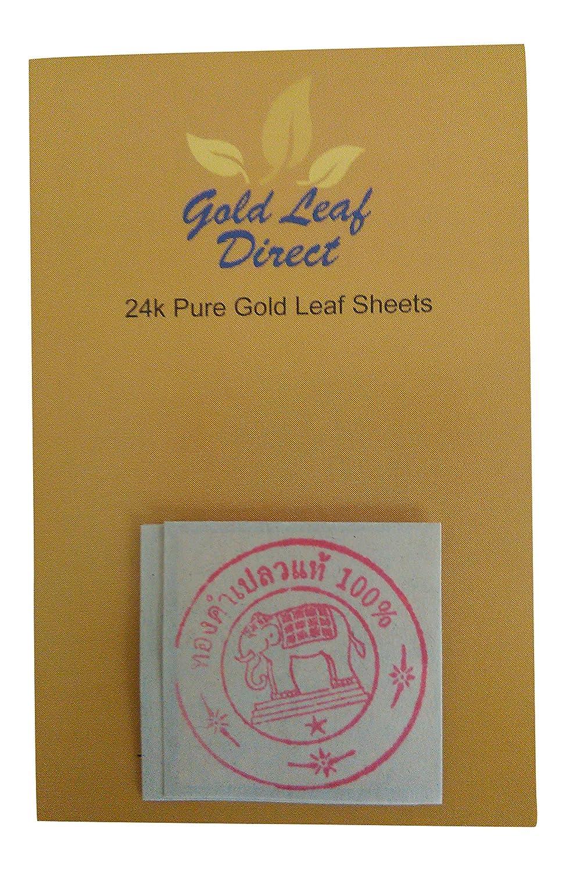 Edible Pure Gold Leaf 24k Karat 100% ct x 20 sheets Gold Leaf Direct