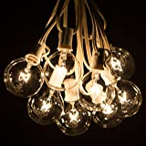 100 Foot White Globe String Lights - 105 G50 Clear
