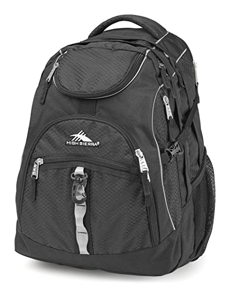 2852615858 Amazon.com  High Sierra Access Laptop Backpack - (Black)  Sports   Outdoors