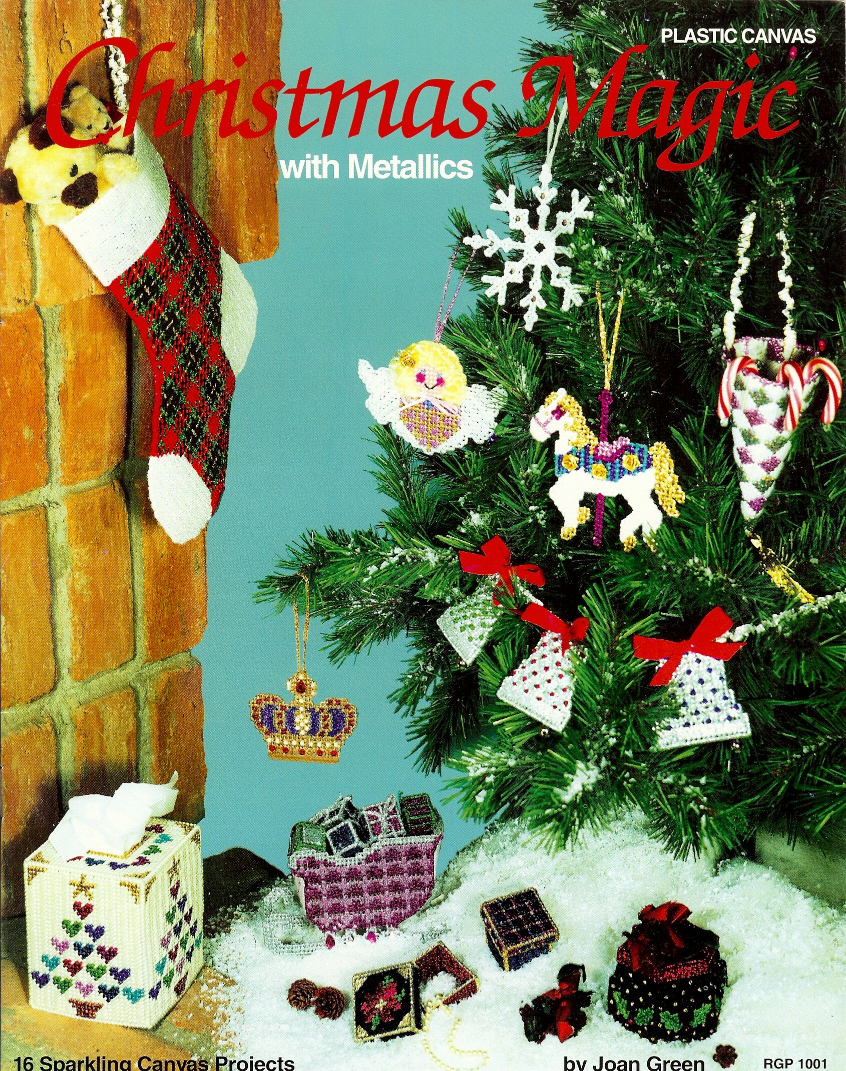 Plastic Canvas Christmas Ornaments.Plastic Canvas Christmas Magic With Metallics 16 Sparkling