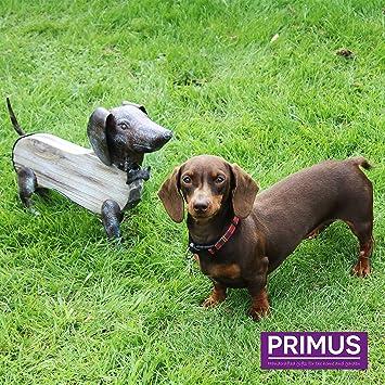 Adorno Primus® de madera rústica y metal hecho a mano para uso interior o exterior