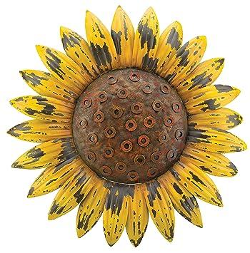 Regal Art u0026 Gift Rustic Flower Wall Decor, Sunflower