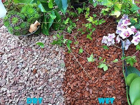 Gravilla de piedra pizarra para cubrir y eliminar las hierbas del jardín, patio, camino y plantas, granito rojo, de 10 a 14 mm, 5KG: Amazon.es: Hogar
