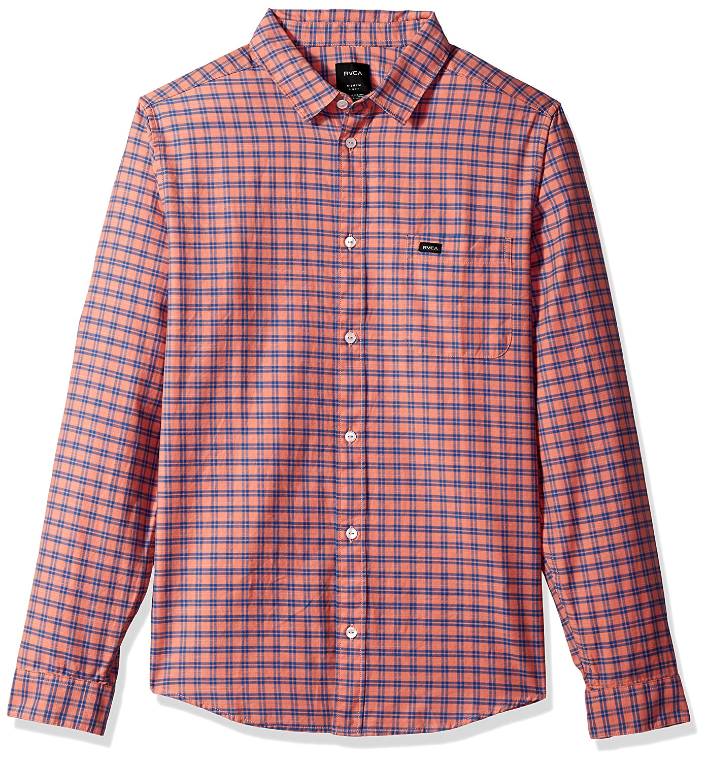 RVCA Mens Delivery Long Sleeve Woven Shirt M551NRDE