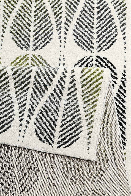 Wecon home Esprit I Moderner Kurzflor Kurzflor Kurzflor Teppich - Läufer für Wohnzimmer, Flur, Schlafzimmer I Zeno I ESP-5165-061 I Weiß Grün Grau I (120 x 170 cm) B079DXTMQR Teppiche 733e02