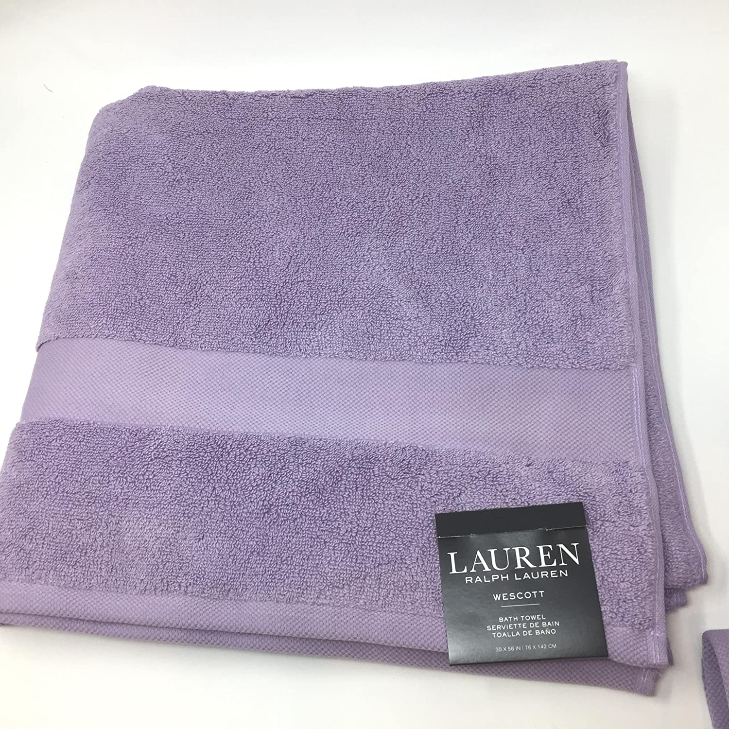 Amazon.com: Lauren Ralph Lauren Wescott Bath Towel Duchess Lilac 30 x 56: Home & Kitchen