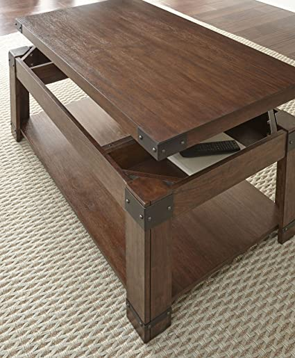Amazon Com 48 In Lift Top Cocktail Table With Casters Kitchen
