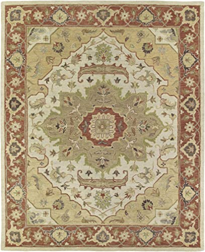 Kaleen Rugs Solomon Collection 4054-05 Gold Hand Tufted 9 x 12 Rug