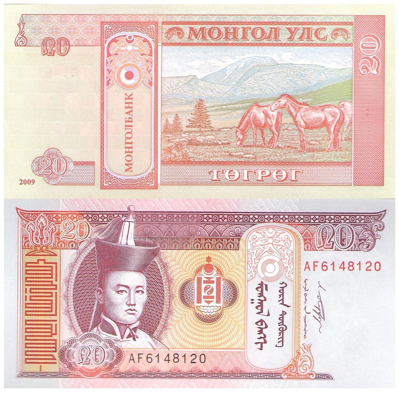 20 Tugrik Mongolia 2000-2010 disegno delle banconote da collezione in UNC Condition Bank of Mongolia