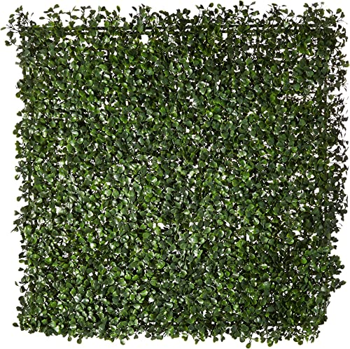 NatraHedge Artificial Boxwood Hedge Mat 20 x 20 Panels 12 Pack