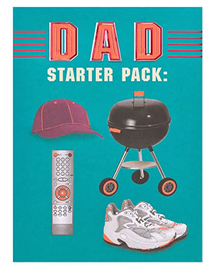 Amazoncom American Greetings Funny Dad Starter Pack Fathers Day