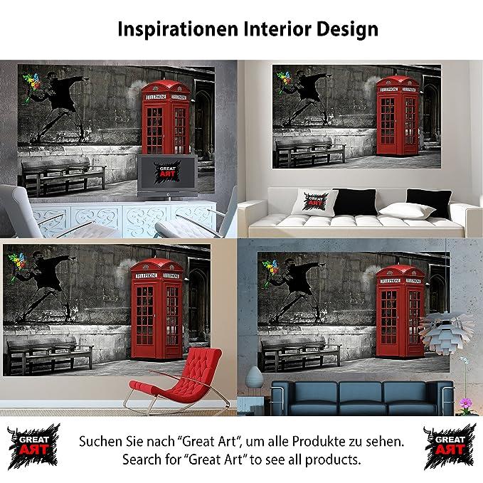 Cabina telefónica roja Londres Inglaterra, Love is in the air fotomurales decoración de la pared by GREAT ART (210 x 140 cm): Amazon.es: Bricolaje y ...
