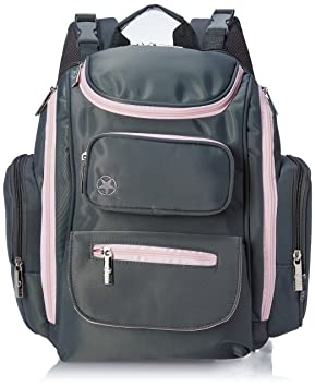 Amazon.com : Jeep J is for Places and Spaces Back Pack Diaper Bag, Grey/Pink : Baby